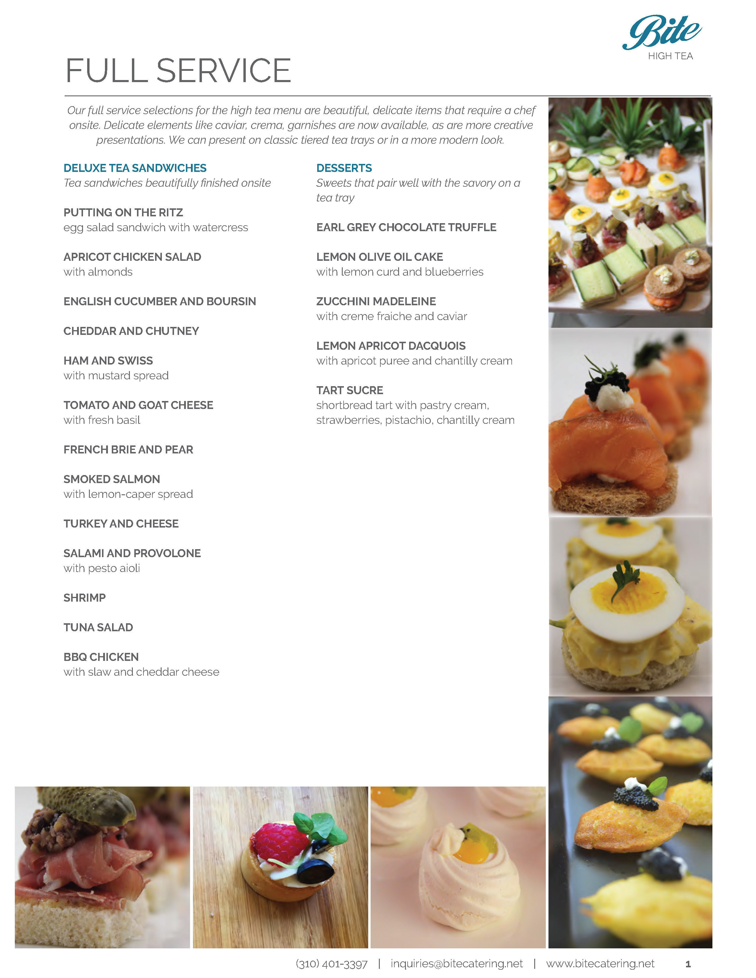 Custom English High Tea Catering Menu Ideas
