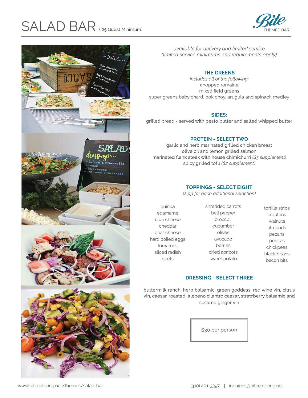 Entree Salad Bar