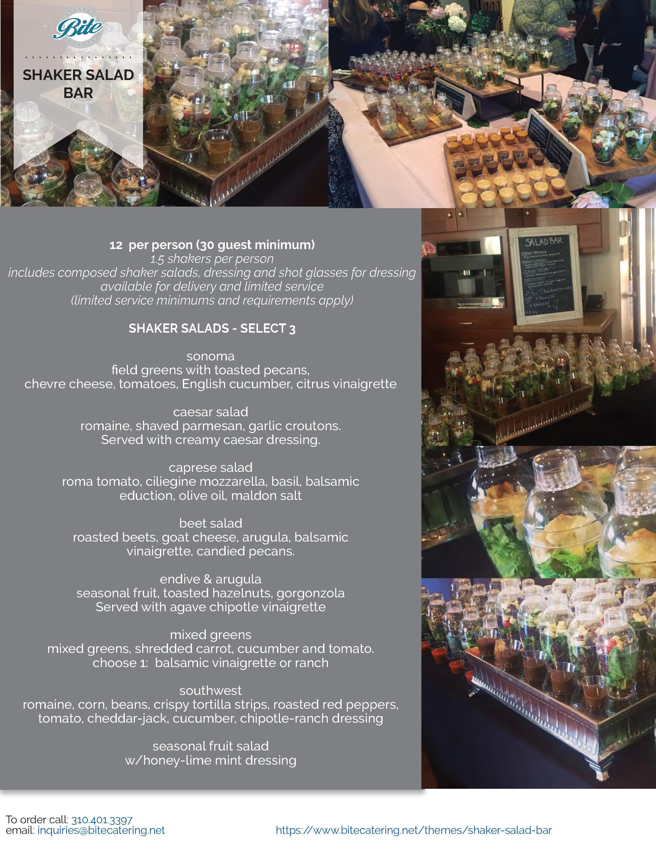Shaker Salad Bar