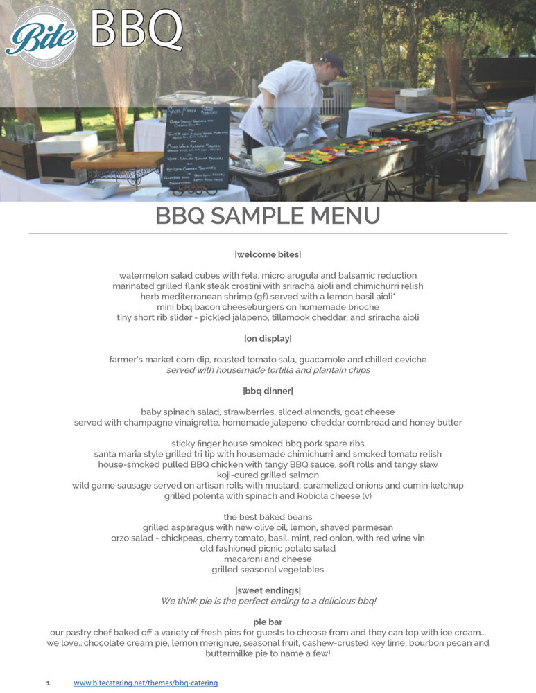 BBQ Menu Ideas