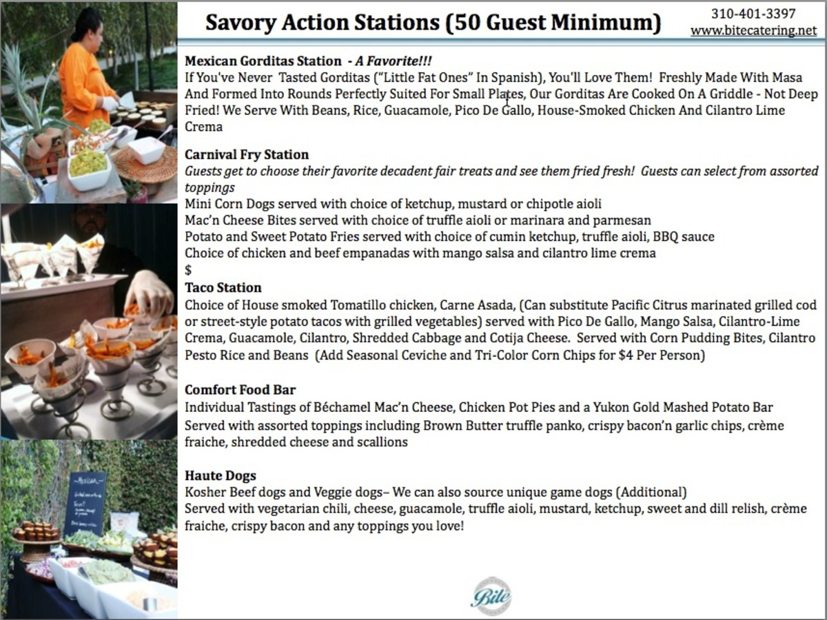 Savory Action Stations