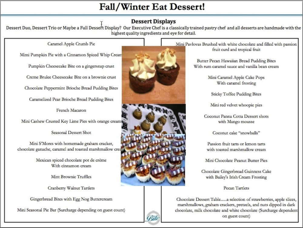 Great Desserts - in smaller sizes