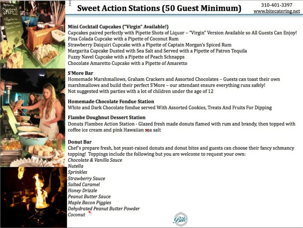 Sweet Action Stations