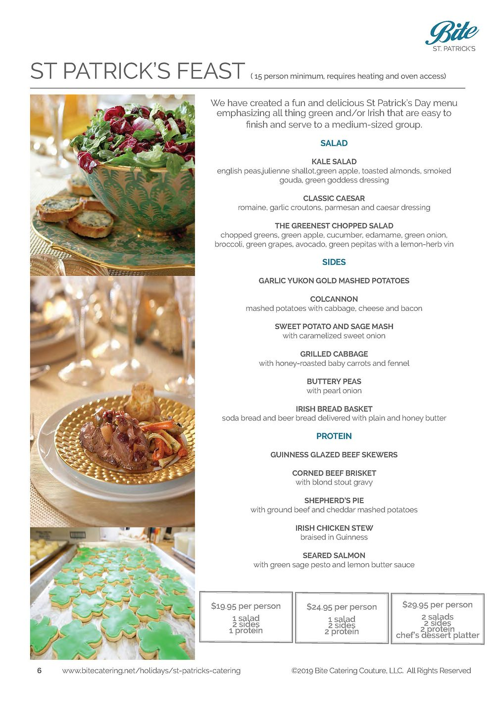 St Patrick's Day Salads and Entrees