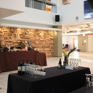 Reception setup inside office