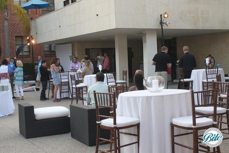 Santa Monica Company Anniversary Party Cocktail Tables