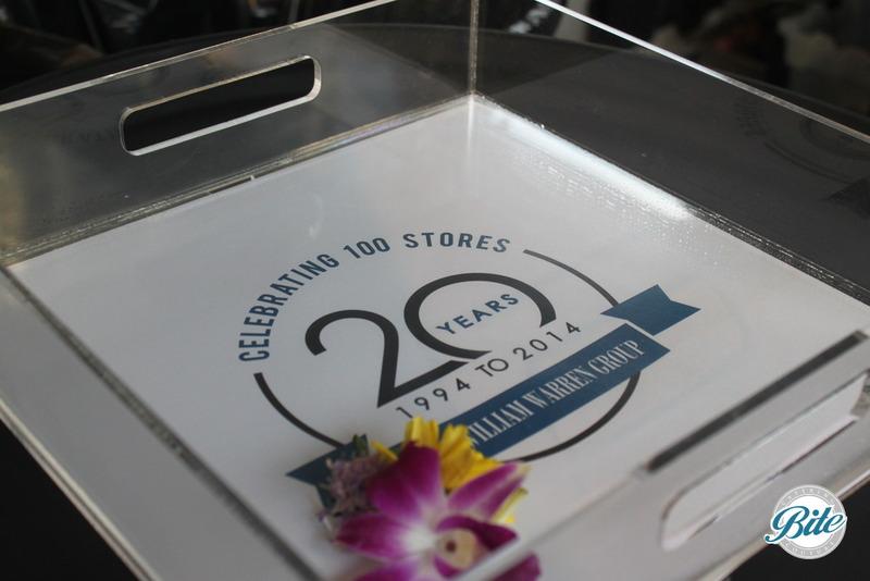 Santa Monica Company Anniversary Party Custom Logo Trays