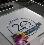 Santa Monica Company Anniversary Party Custom Logo Trays