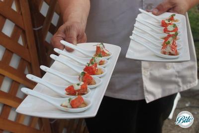 Santa Monica Company Anniversary Party Cedar Baked Salmon