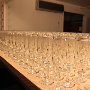 Rows of Prepared Glasses