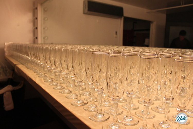 Glassware Ready for Thirsty Party Guests!
