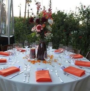 Reception Table in Backyard