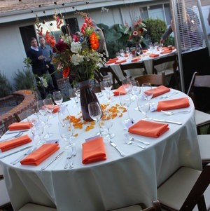 Reception Tables in the Yard