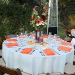 Tables for Backyard Fall Wedding in Woodland Hills