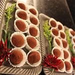 Backyard Wedding in Woodland Hills Dark Chocolate Truffles 1