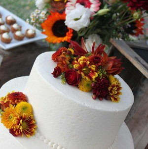 Fall Wedding Cake Top Tier