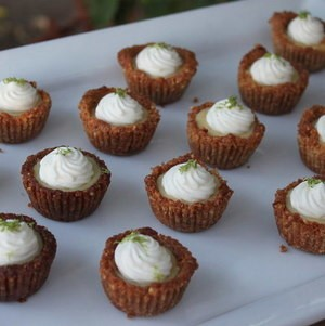 Mini Key Lime Pies on White Tray