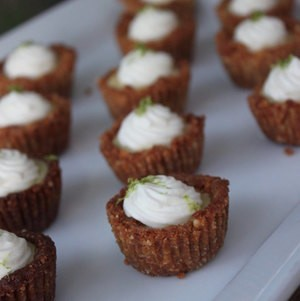 Mini Cashew-Crusted Key Lime Pies