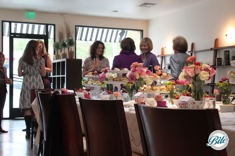 Beautiful tea party catering for high tea bridal shower