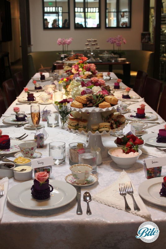 Lovely tablescape for high tea bridal shower