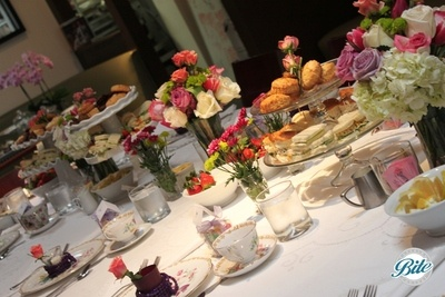 Elegant high tea bridal shower
