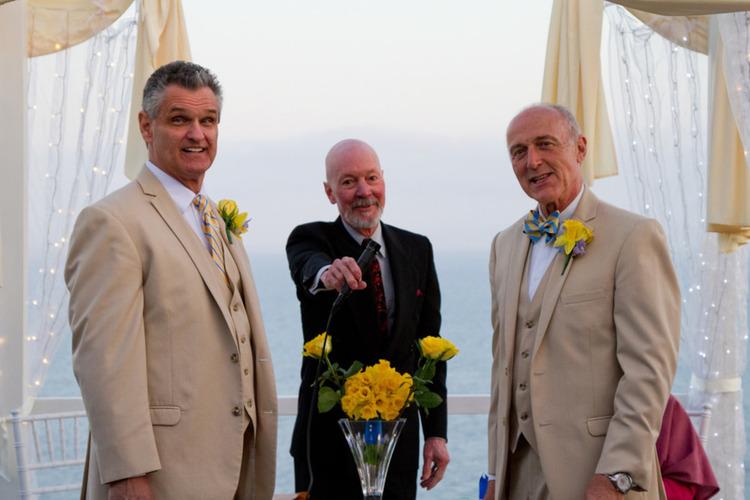 Malibu Home Backyard Wedding at the Altar