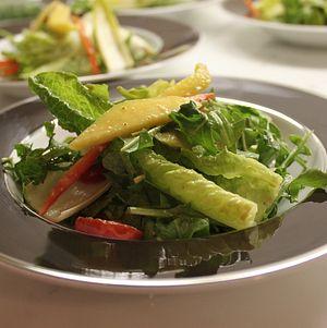 Birthday dinner mango salad.