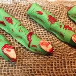 Green finger bites #Halloween