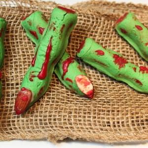 Bloody green finger bites #Halloween