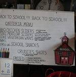 School house themed custom menu