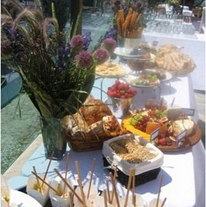 Wedding Buffet Table Outdoors @ Venice Beach