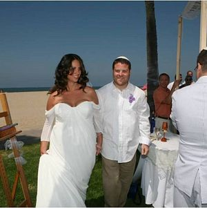 Bride and Groom @ Beach Wedding