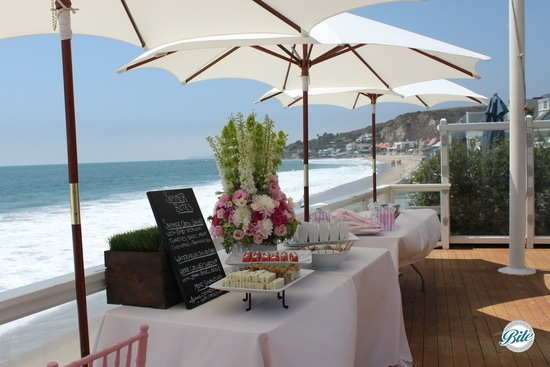 Bites Display Over Beach @ Malibu Baby Shower
