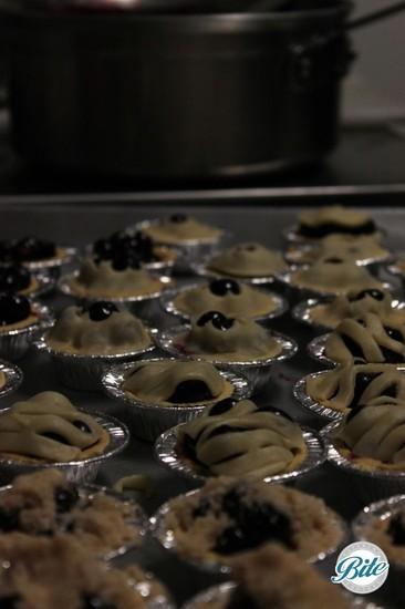Mini Blueberry Pies Ready for Baking