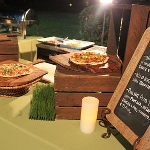 Grilled Pizza Station with Rustic Display