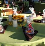 Table with Sunflowers and Candy Apples