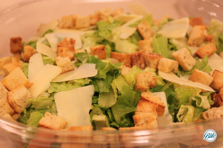 CLASSIC CAESAR  Romaine lettuce, garlic croutons, and parmesan cheese in a classic Caesar dressing