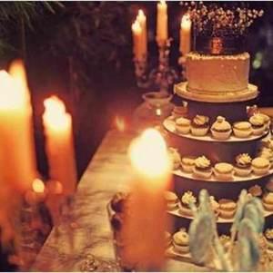 Dessert Display w/ Cake Topper @ Elaine's Wedding