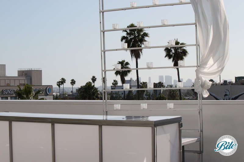rooftop bar overlooking the city