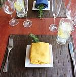 Placesetting for casual spring tasting