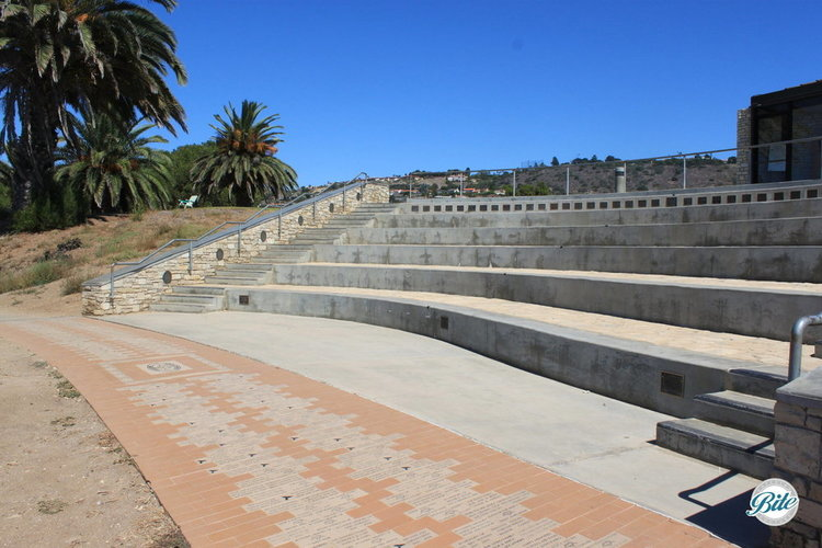 Ibrahim El Hefni Amphitheater seats 150 and overlooks the ocean