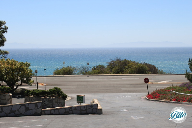 Wayfarers Chapel is located on the Palos Verdes Peninsula, overlooking the ocean.  Check out the spectacular view from the parking lot!
