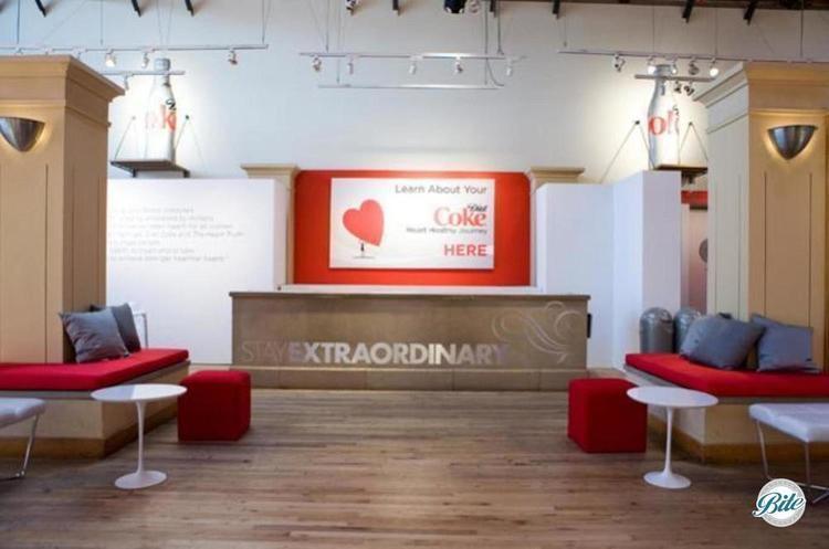 Corporate event lounge reception area