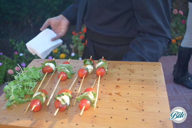 Vertical Caprese Skewers - Buffalo Mozzarella, Basil, New Olive Oil and Balsamic Reduction