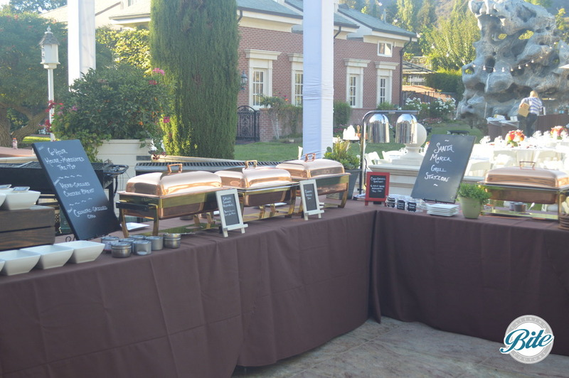 Large farm to table buffet set up
