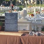 RideOn Fundraiser Buffet Setup