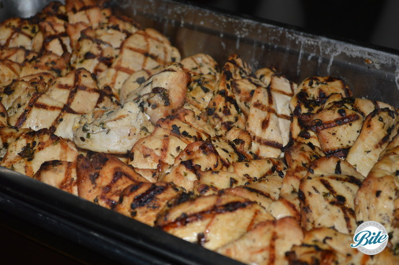 Herb grilled chicken for buffet dinner