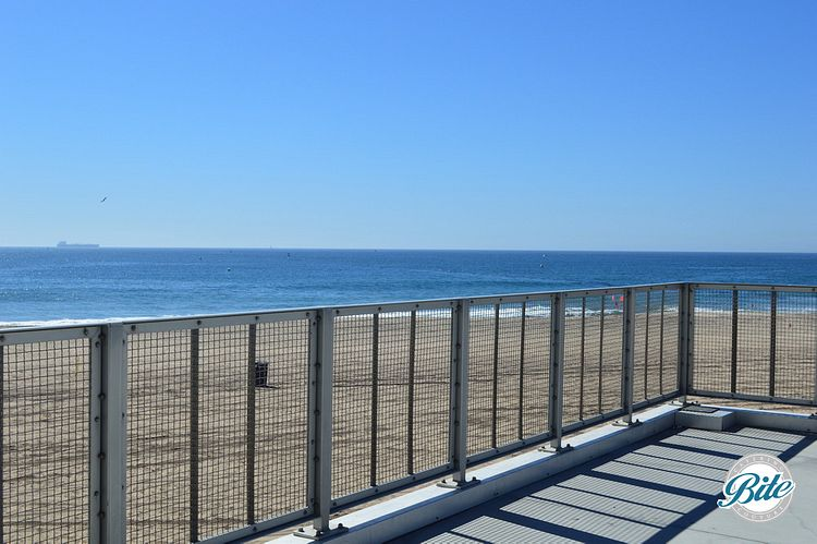 Gorgeous ocean views from the dockweiler youth center facing the pacific ocean