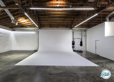 Newly renovated cyclorama- standing 13.5' high x 24' wide - great for photography, film, gallery opening, dancing, & more