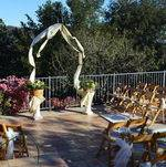 Malibu Hills Backyard Ceremony Setup